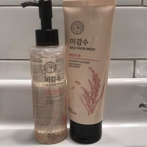 Cleansing oil & foaming cleanser